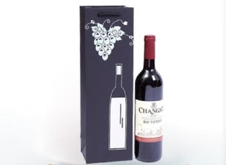 Single Bottle Redwine Paper Bag Type With Easy Handle